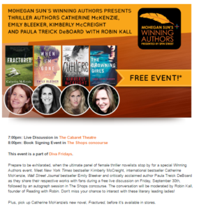 winning authors event